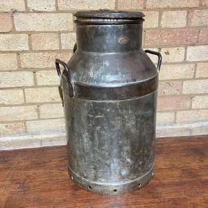 Large Vintage Milk Churn and Lid