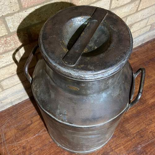 Large Vintage Milk Churn and Lid image-5