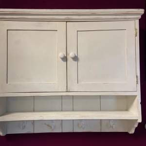Vintage White Wall Cupboard