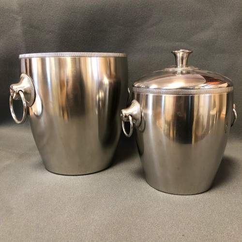 French Champagne Ice Bucket Set image-1