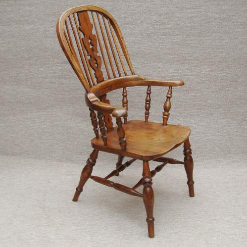 19th Century Windsor Bow Back Chair image-1