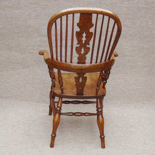 19th Century Windsor Bow Back Chair image-3