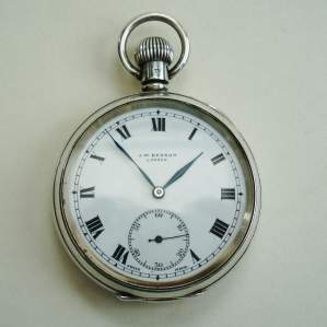J.W.Benson Silver Pocket Watch