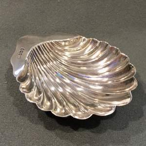 Early 20th Century Silver Shell Dish