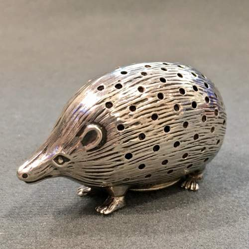Edwardian Silver Hedgehog Pin Cushion image-1