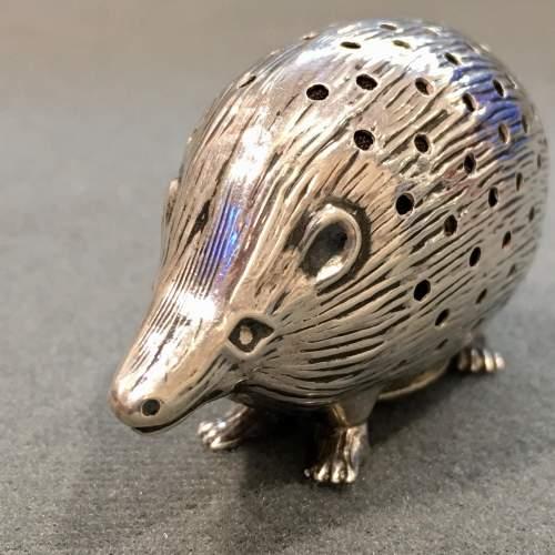 Edwardian Silver Hedgehog Pin Cushion image-2