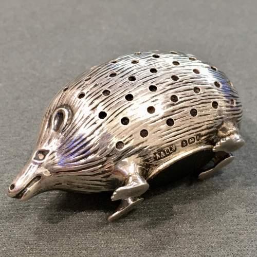 Edwardian Silver Hedgehog Pin Cushion image-4