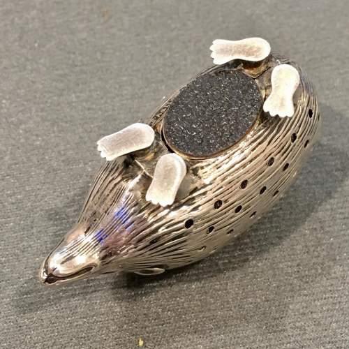 Edwardian Silver Hedgehog Pin Cushion image-6