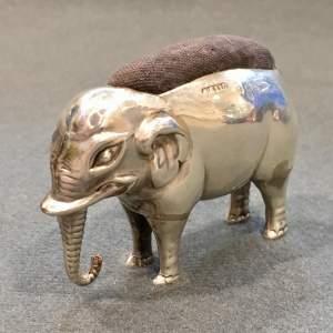 George V Medium Sized Silver Elephant Pin Cushion