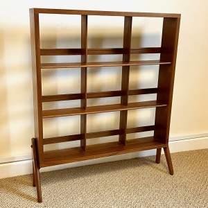 Retro Mid Century Walnut Penguin Bookcase