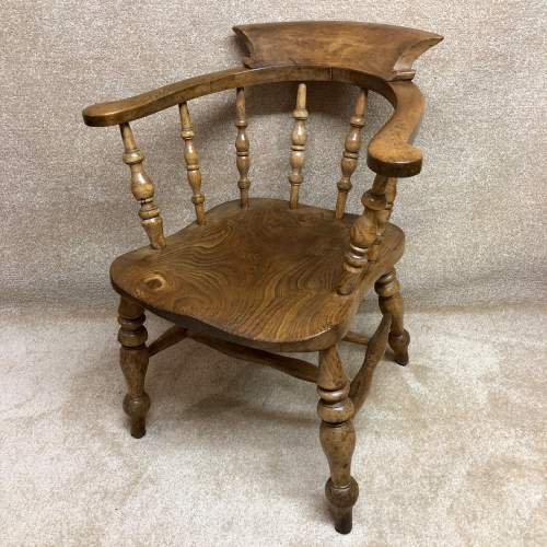 19th Century Elm Seat Smokers Bow Chair image-1