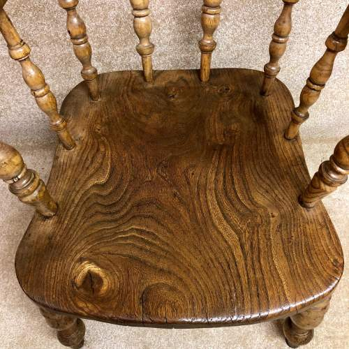 19th Century Elm Seat Smokers Bow Chair image-4