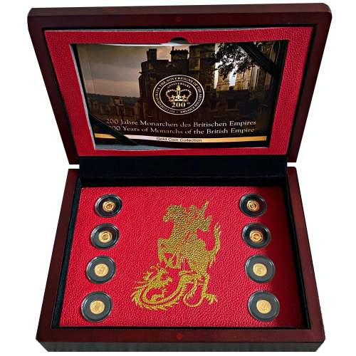 Special Edition British Empire 8 Gold Coin Collection image-1