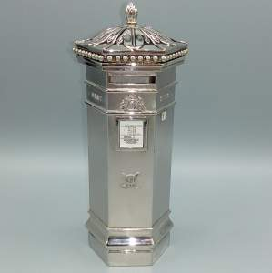 Fine Quality Silver Plated Post Box Money Box