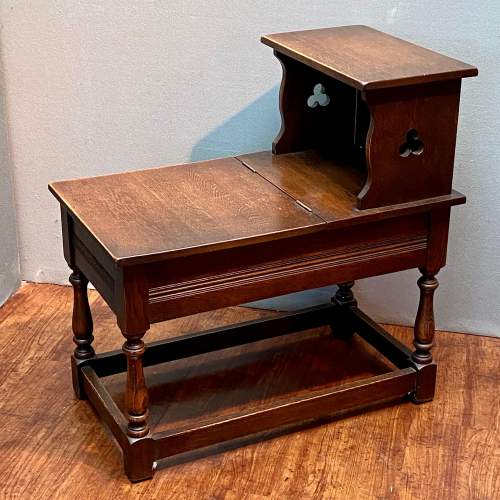 Early 20th Century Arts and Crafts Oak Hall Table image-1