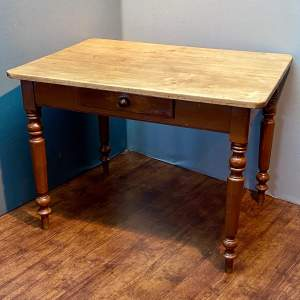 19th Century French Pine Scullery Table