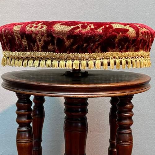19th Century Adjustable Piano Stool image-2