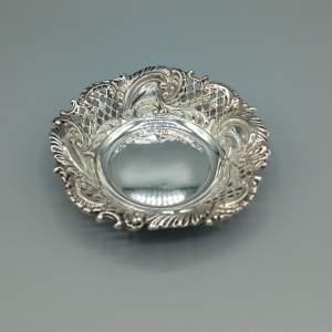 Pierced Silver Bon Bon Dish