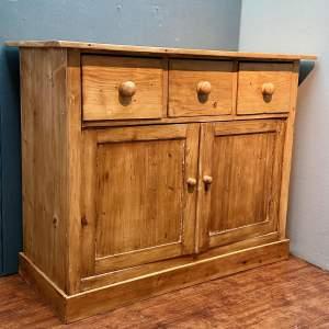 Early 19th Century Pine Three Drawer Cupboard