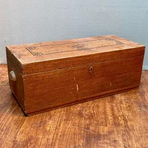 Small Edwardian Painted Trunk