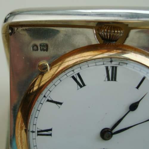 Silver Travel Clock by Wilsdorf and Davis image-6