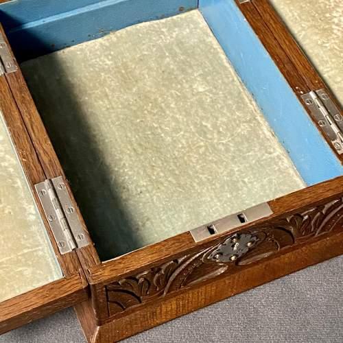19th Century Silver and Oak Jewellery Box image-5