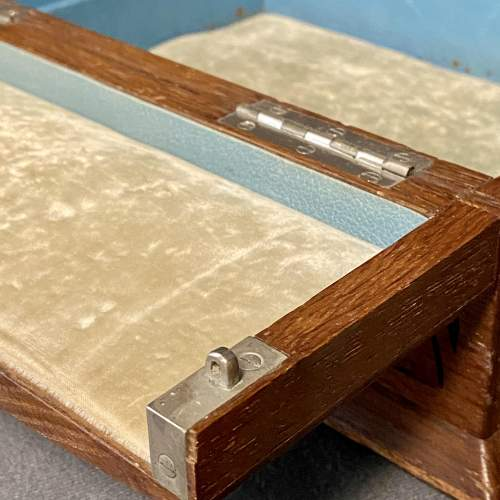 19th Century Silver and Oak Jewellery Box image-6