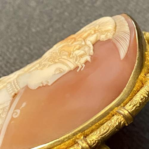 19th Century Shell Cameo Brooch of Athena image-5