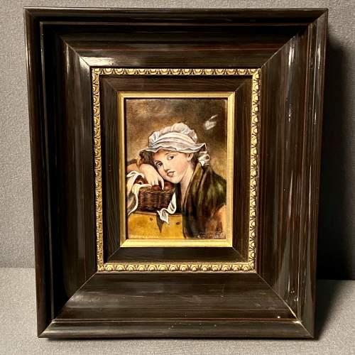 Framed Limoges Enamel Plaque image-1