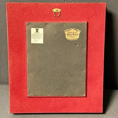 Framed Limoges Enamel Plaque image-4