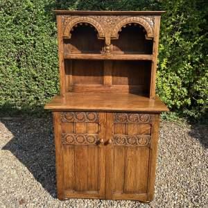 Solid Oak Carved Dresser