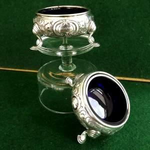 Pair of George II Silver Table Salts