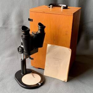 Vintage USSR Binocular Microscope