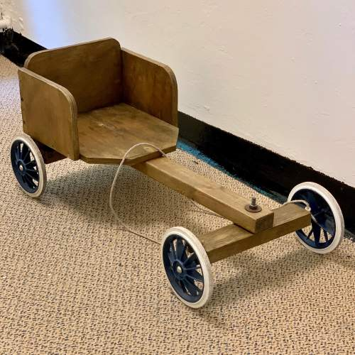 Hand Built Vintage Childs Soap Box Cart image-1