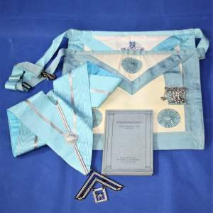 Freemasonry : What Whence Why Whither Cockburn 1920s Sash and 2 Aprons