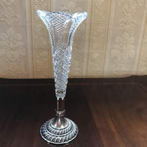 Victorian Silver and Crystal Posy Holder