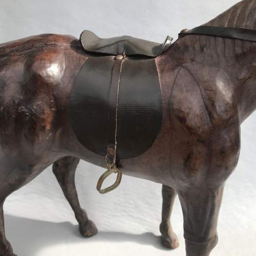 Mid 20th Century Model of a Dark Brown Leather Horse image-2