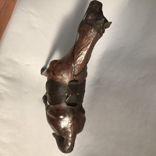 Mid 20th Century Model of a Dark Brown Leather Horse image-3