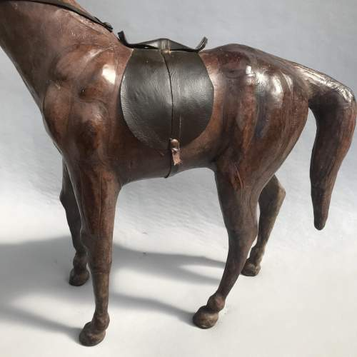 Mid 20th Century Model of a Dark Brown Leather Horse image-5