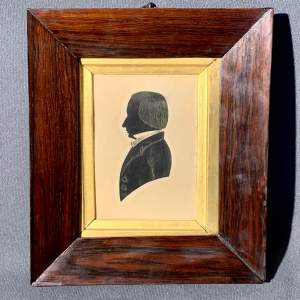19th Century Silhouette in Original Rosewood Frame