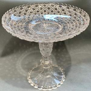 Edwardian Crystal Two Piece Cake or Fruit Stand