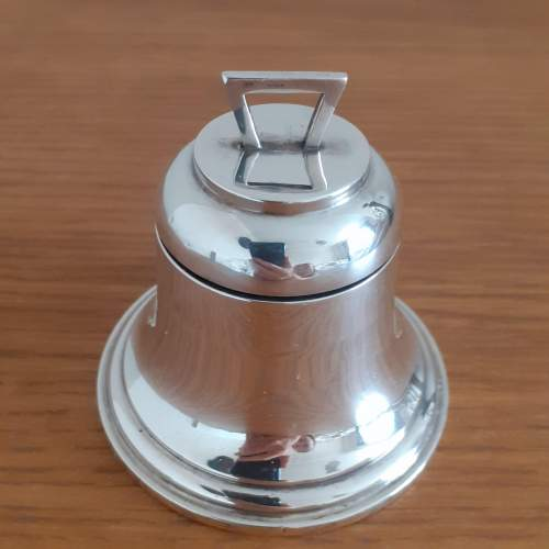 Antique George VI Sterling Silver Bell Shaped Inkwell image-1