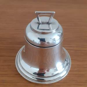 Antique George VI Sterling Silver Bell Shaped Inkwell