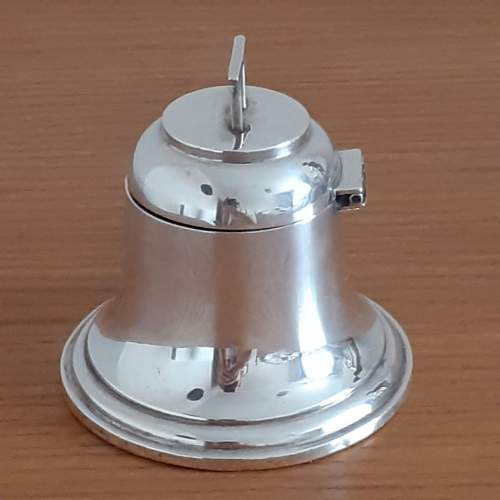 Antique George VI Sterling Silver Bell Shaped Inkwell image-2