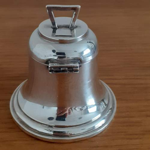 Antique George VI Sterling Silver Bell Shaped Inkwell image-4