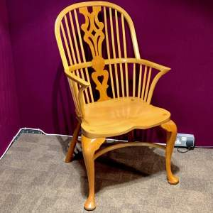 Stewart Linford Yew and Oak Windsor Chair