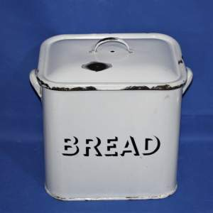 Good Quality Vintage White Enamel Bread Bin