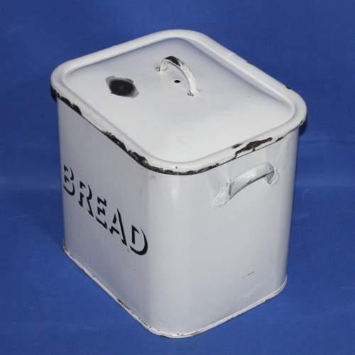 Good Quality Vintage White Enamel Bread Bin image-2