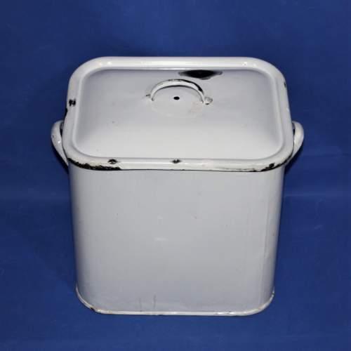 Good Quality Vintage White Enamel Bread Bin image-3