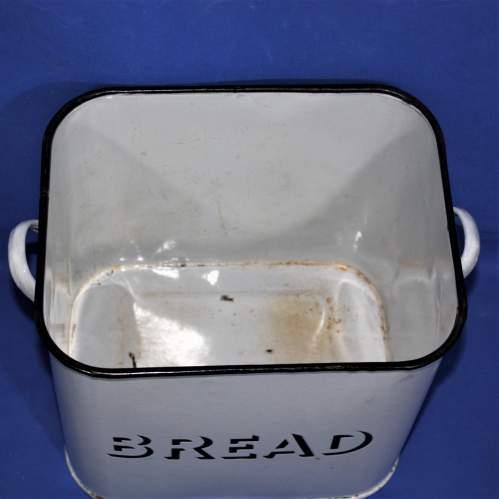 Good Quality Vintage White Enamel Bread Bin image-4